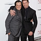 Gerard Butler posed with Gabriele Muccino at the Playing For Keeps premiere in NYC.