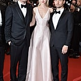 Carey Mulligan (with Saint Laurent-clad costars Leonardo DiCaprio and Tobey Maguire) turned up at the premiere of The Great Gatsby in a minimalistic blush gown by Dior Haute Couture, accented by Tiffany & Co. jewels.