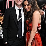 Justin Timberlake and Mila Kunis shared a sweet moment during the 2011 show.