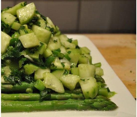 Asparagus, Scallions, and Cucumber Salad