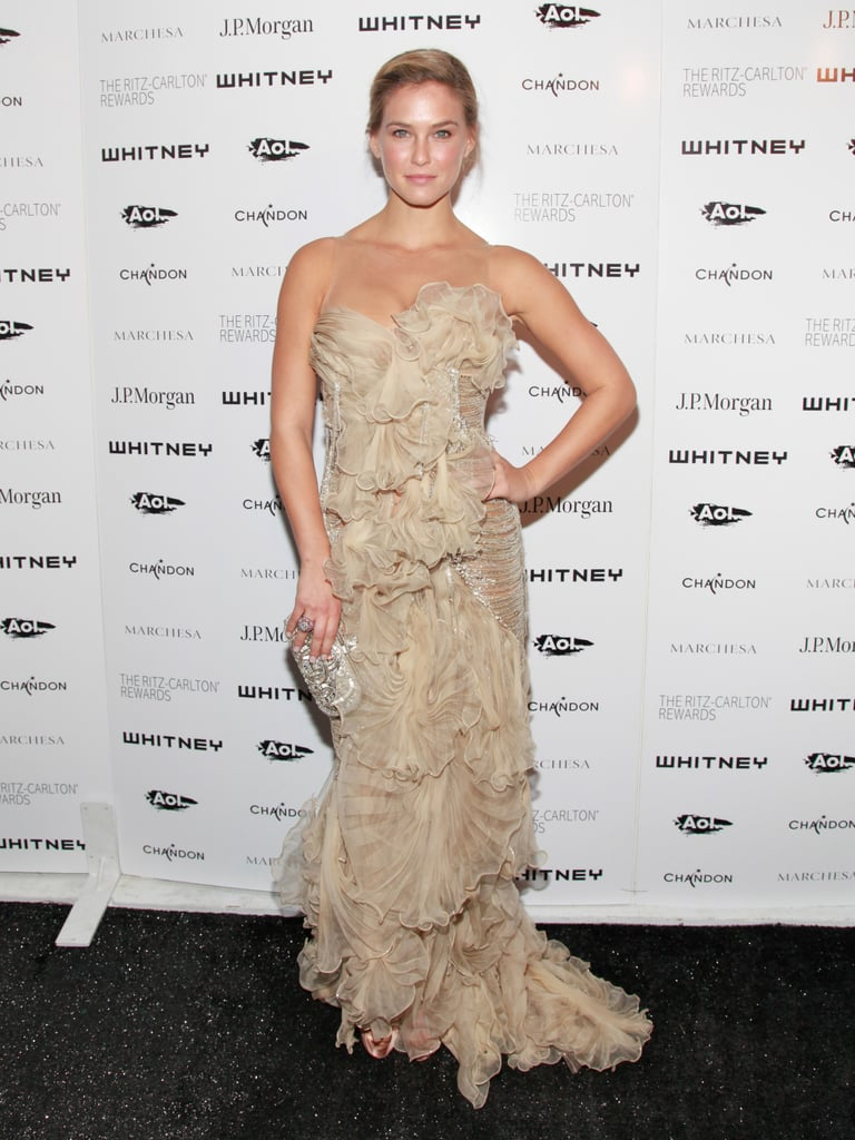 Bar Refaeli posed for photographers at the 2011 Whitney Gala in NYC.
