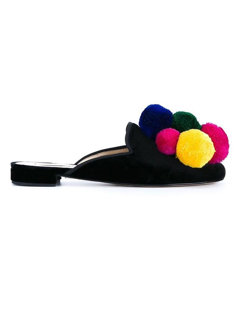 Natasha Zinko Pom Pom Slippers ($818)