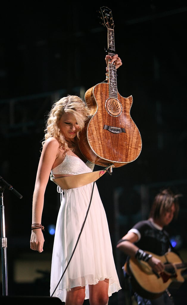 She learned how to play guitar from a repairman