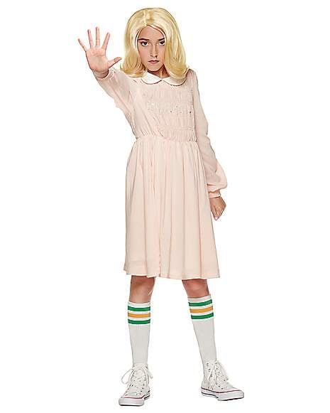 Popular Kids Halloween Costumes 2019.Kids Eleven Dress Costume From Stranger Things Best Spirit