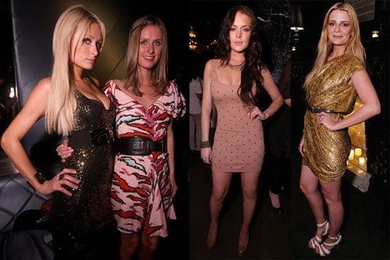 Photos of Lindsay Lohan, Mischa Barton, And Paris Hilton Partying Together in LA 2010-04-08 11:30:00