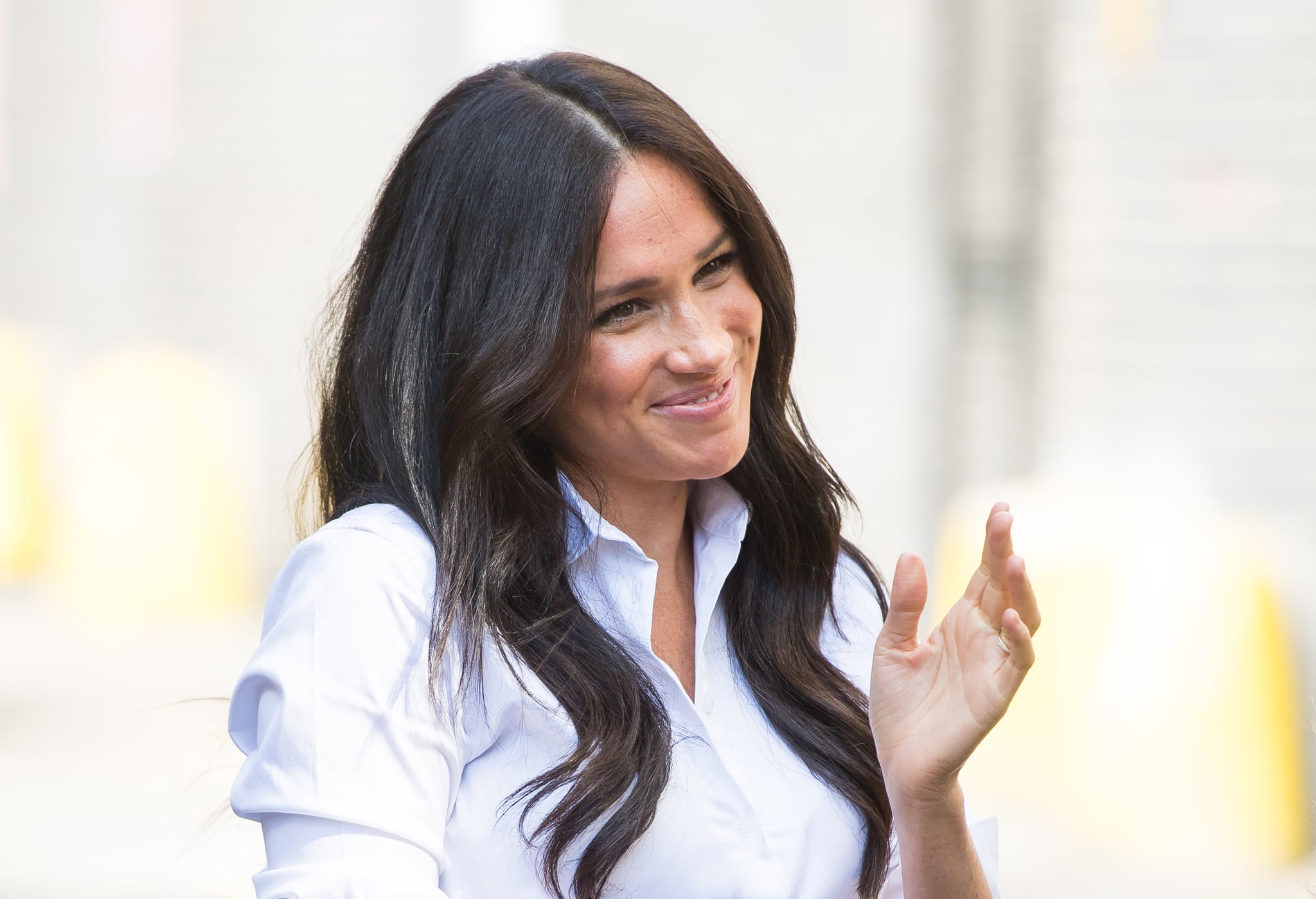 LONDON, ENGLAND - SEPTEMBER 12: Meghan, Duchess of Sussex launches the Smart Works capsule collection on September 12, 2019 in London, England. Created in September 2013 Smart Works exists to help unemployed women regain the confidence they need to succeed at job interviews and return to employment. (Photo by Samir Hussein/WireImage)