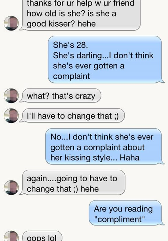 Sex txt messages, naked girl turned around