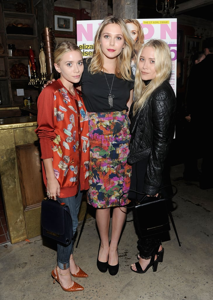 Mary-Kate, Ashley and Elizabeth Olsen at Nylon Party in NYC