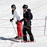 Kate Middleton wore a red and white ski outfit for vacation in France.