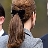 Kate Middleton's Velvet Bow, 2018