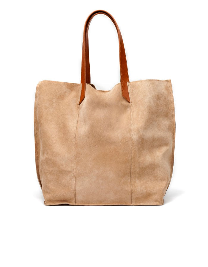 We love this supple suede tote bag.  Zara Suede Tote ($90)