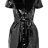 J Brand Lucille Belted Patent-Leather Dress