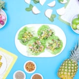 Pineapple and Chicken Lettuce Cups