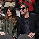 In December 2010, Penélope and Javier shared smiles during a Lakers game in LA.
