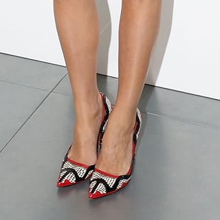 Celebrity Shoe Trends: Pointed Pumps In Animal Print & White