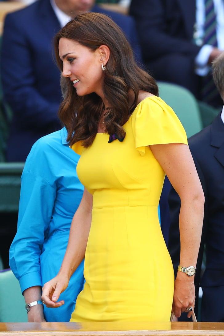 Kate Middleton Yellow Dress Wimbledon 2018 Popsugar