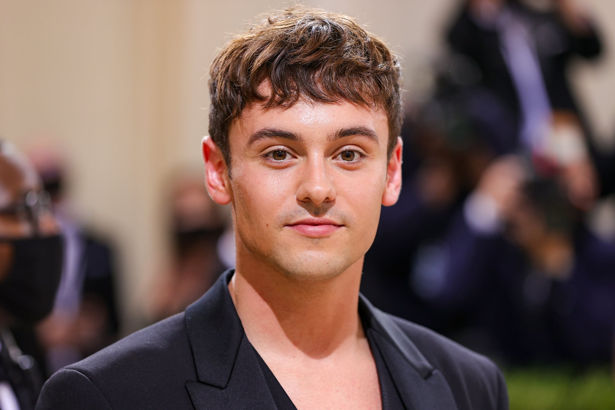 NEW YORK, NEW YORK - SEPTEMBER 13: Tom Daley attends The 2021 Met Gala Celebrating In America: A Lexicon Of Fashion at Metropolitan Museum of Art on September 13, 2021 in New York City. (Photo by Theo Wargo/Getty Images)