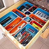 Three by Three Metal Drawer Organizers