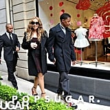 Mariah Carey and Nick Cannon Share Sweet PDA in Paris