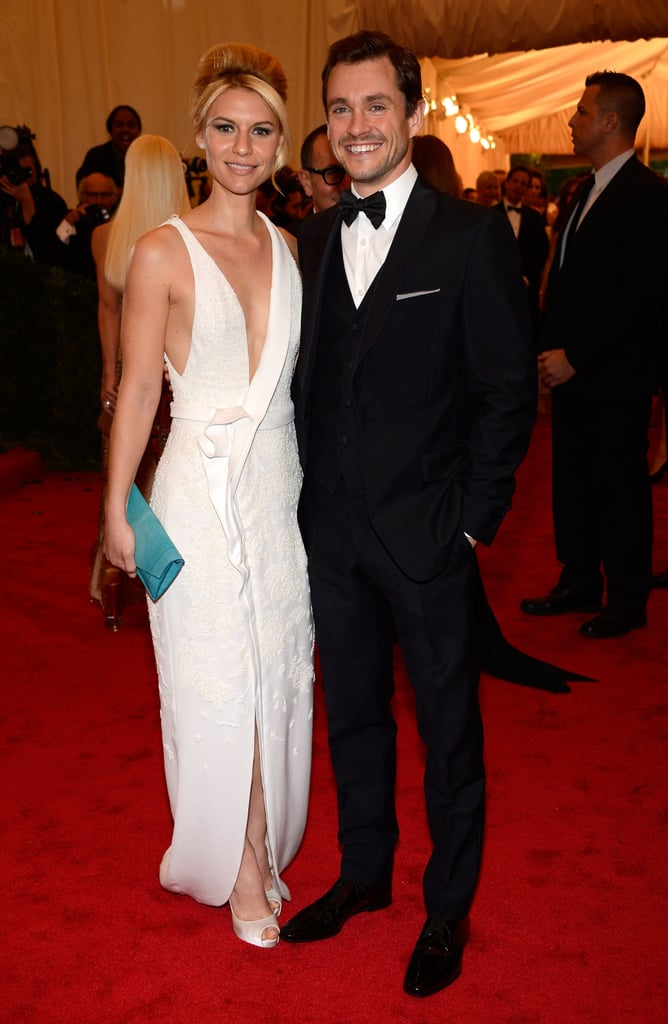 Claire Danes and her husband, Hugh Dancy, made a dapper duo in black and white.