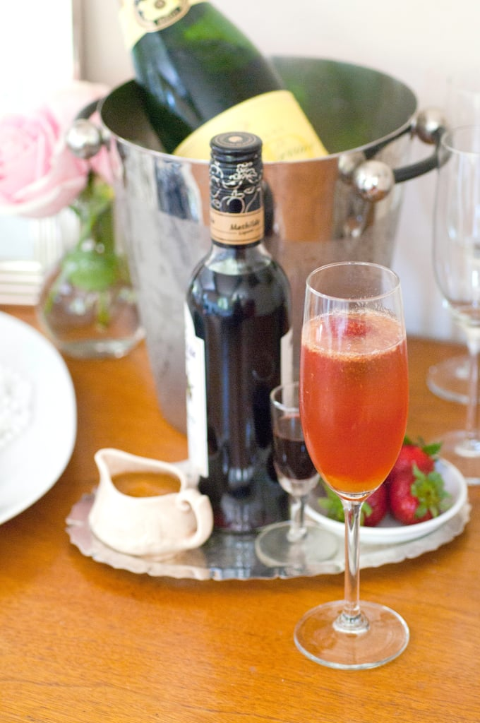 Audrey Hepburn Champagne Cocktail