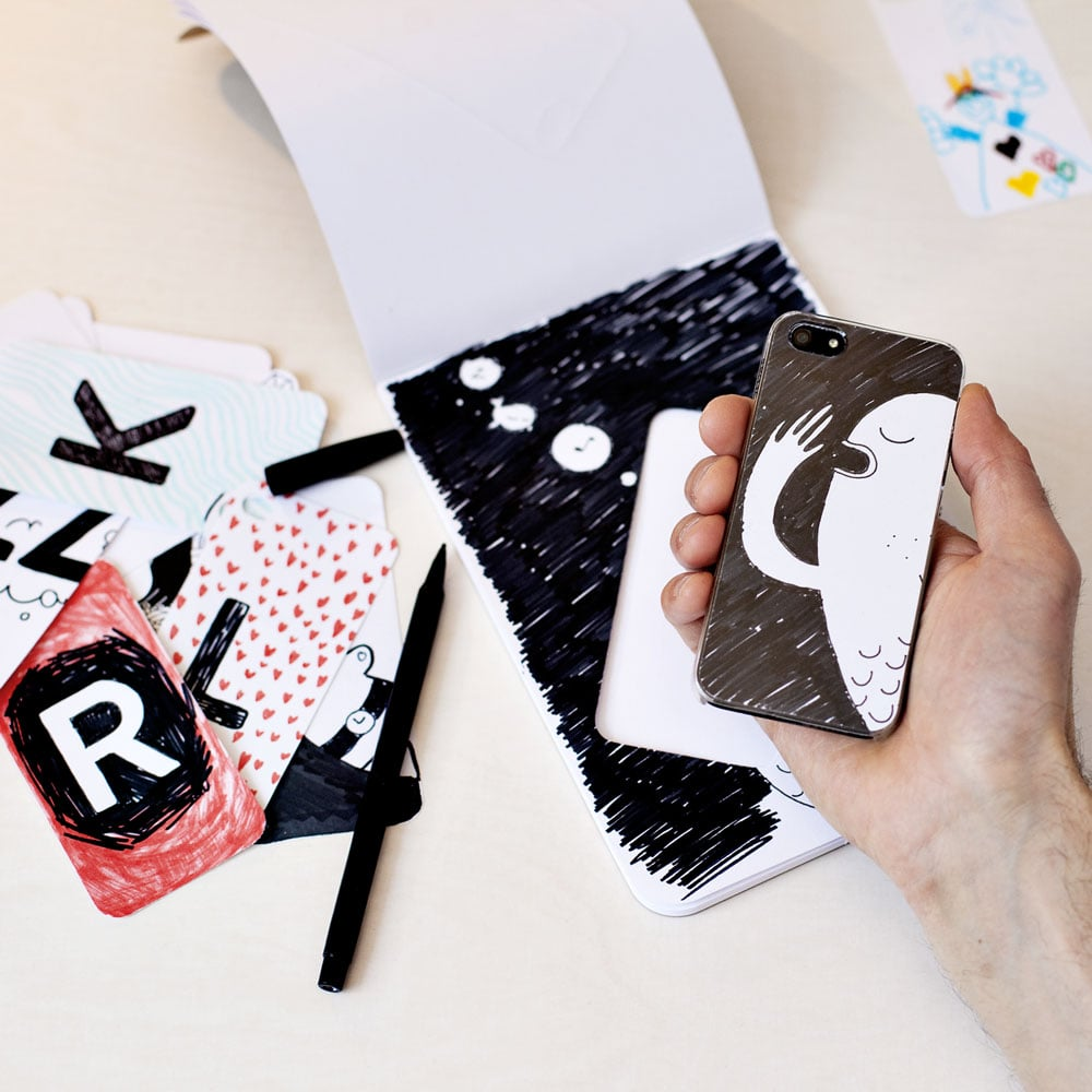iPhone Case and Notebad ($25)