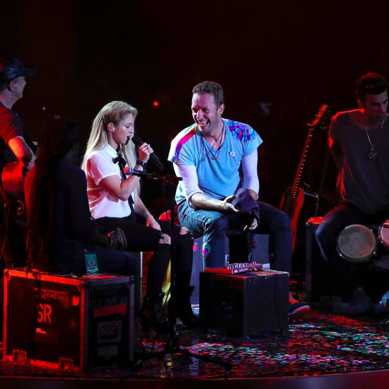 "Shakira and Coldplay ""Chantaje"" Performance"