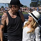 Dax Shepard and Kristen Bell spent an afternoon outside at Bonnaroo in June 2012.