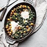 Baked Eggs With Spiced Chickpeas and Spinach