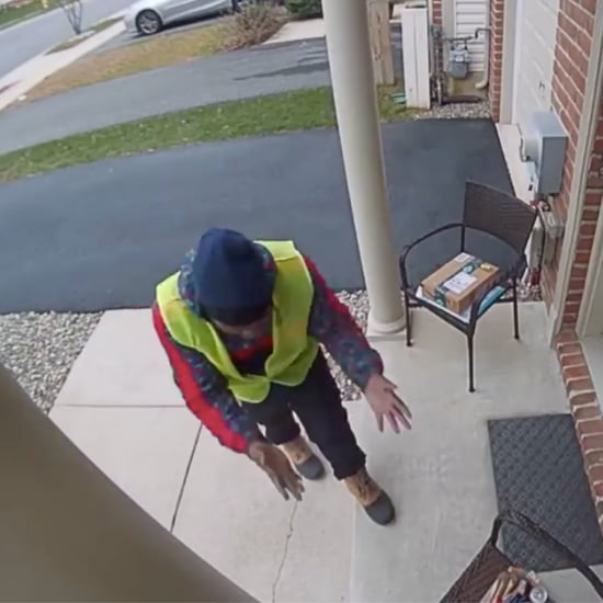 Video of a Delivery Man Discovering Snacks Outside a House