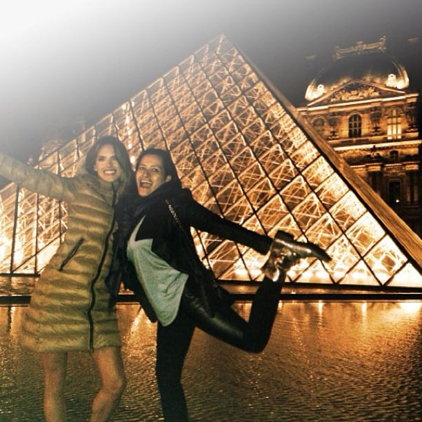 Alessandra Ambrosio and a girlfriend made the most of their time in Paris. Source: Instagram user alessandraambrosio
