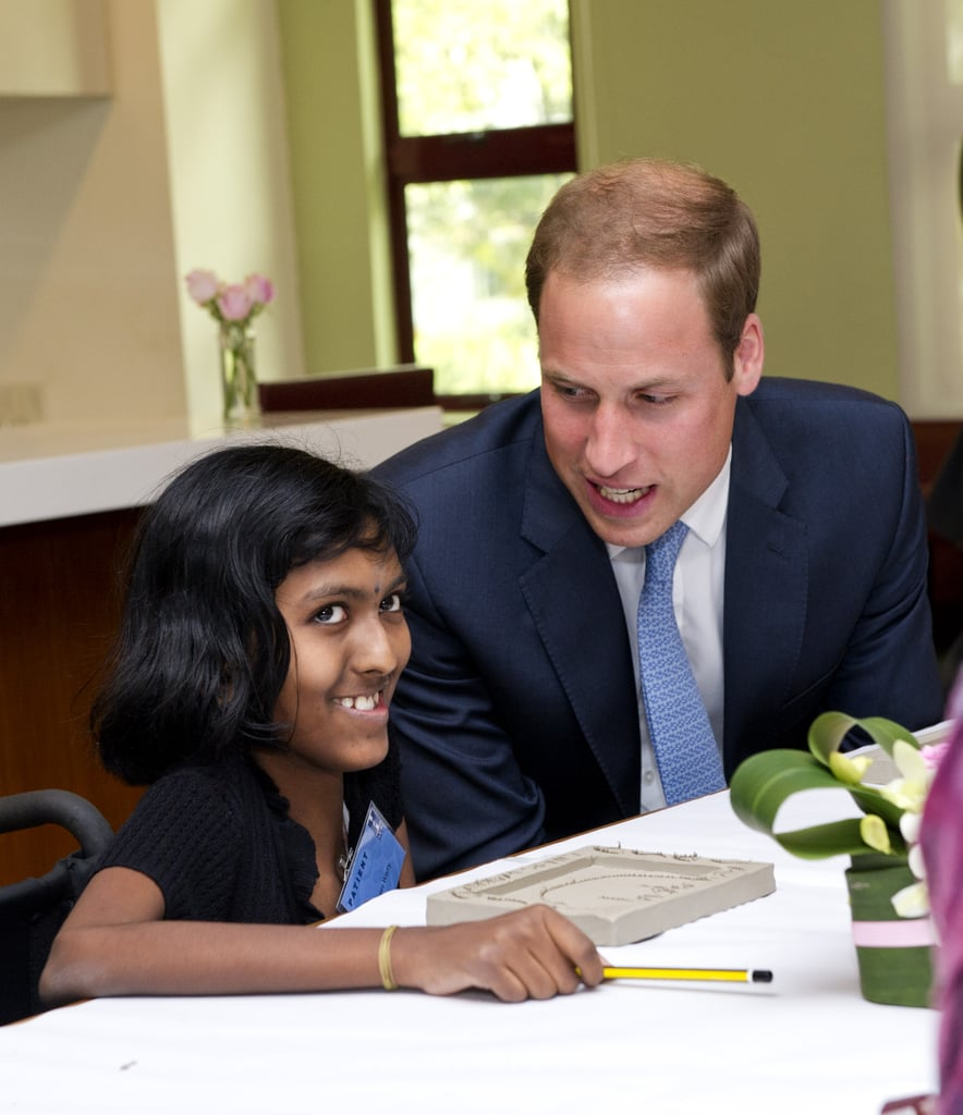 Prince William visited with sick children at Hospis Malaysia.
