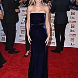 At the Pride of Britain Awards in September 2015, Cheryl opted for a sophisticated Victoria Beckham gown in midnight-blue velvet, teamed with an arm cuff and big earrings.