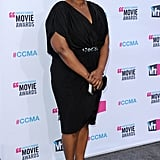 Octavia Spencer in a black dress.