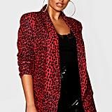 Boohoo Leopard Tailored Blazer