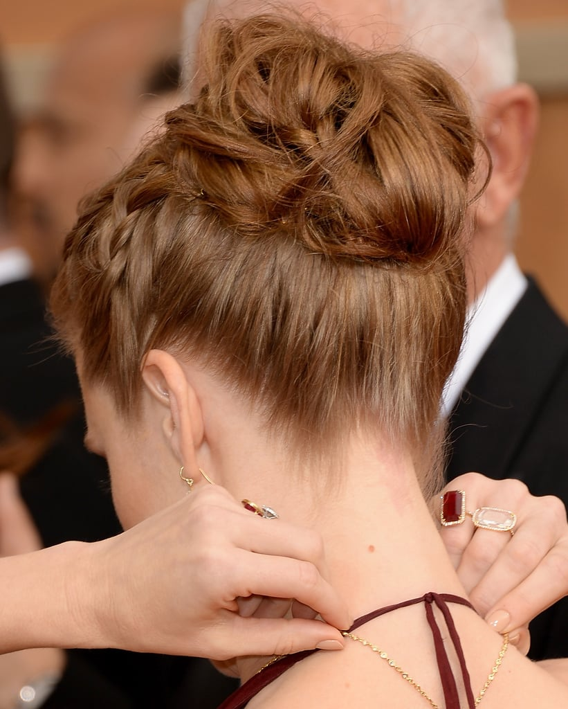 You can really see the attention to detail in Amy's textured bun.