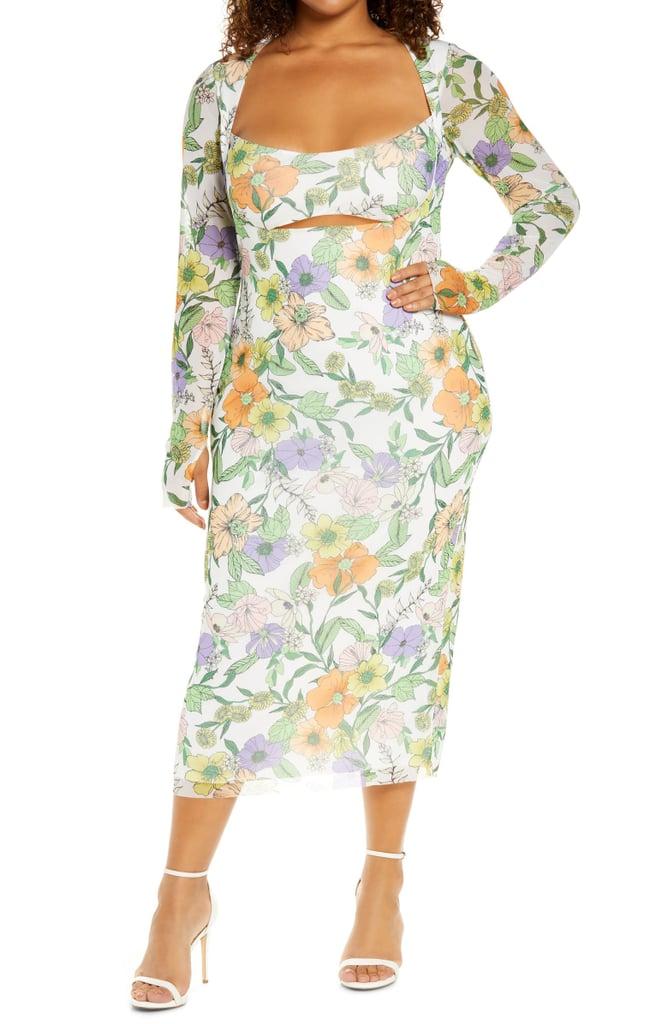 For a Flowery Ensemble: Kellen Cutout Midi Dress