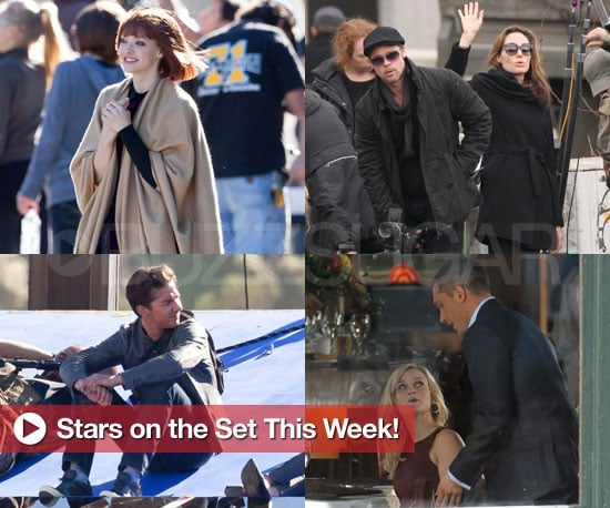 Pictures of Angelina Jolie, Justin Timberlake, Amanda Seyfried and More on Set!
