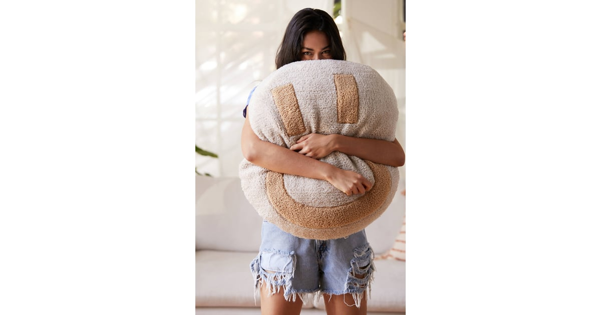 Happy Sherpa Throw Pillow The 106 Coziest Cuddliest Fall Products On The Web For Under 100 Popsugar Smart Living Photo 43