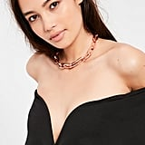 Accessorize your LBD with this Missguided Rose Gold Chain Link Choker ($11, originally $22).