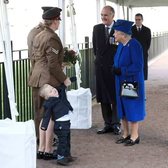 Kid Throwing Tantrum in Front of Queen Elizabeth March 2017
