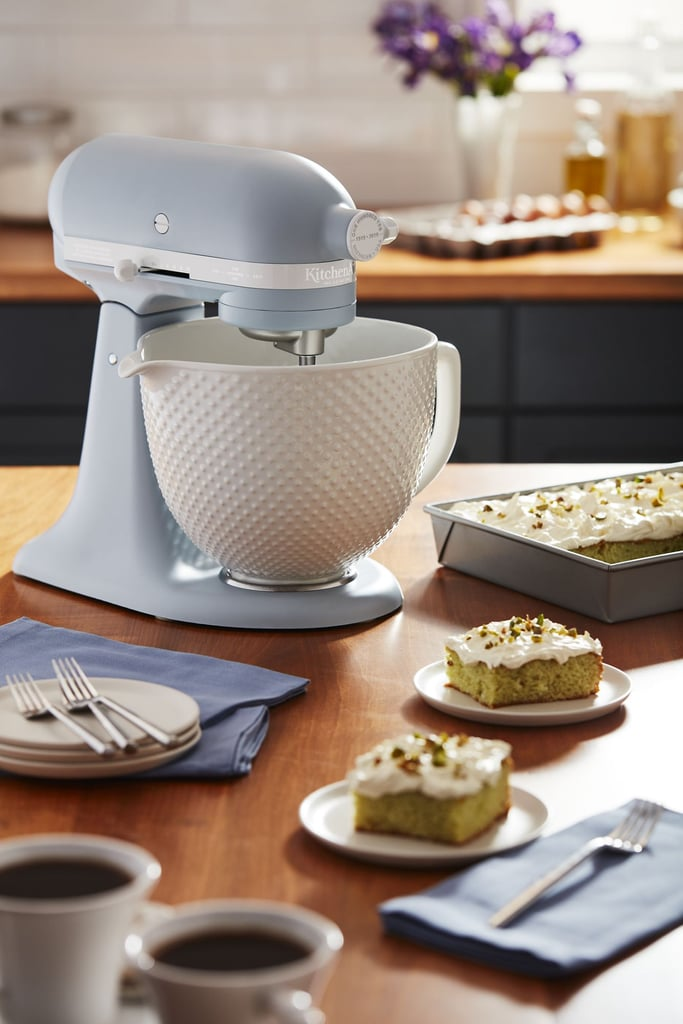 Kitchenaid Stand Mixer With White Ceramic Bowl