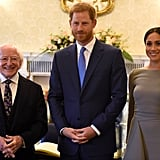 Meghan Markle's Gray Roland Mouret Dress