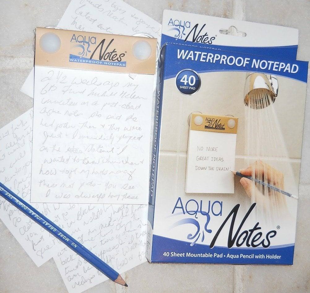 A Waterproof Notepad For Your Shower Thoughts