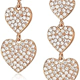 Kate Spade New York Yours Truly Pave Heart Triple Drop Earrings