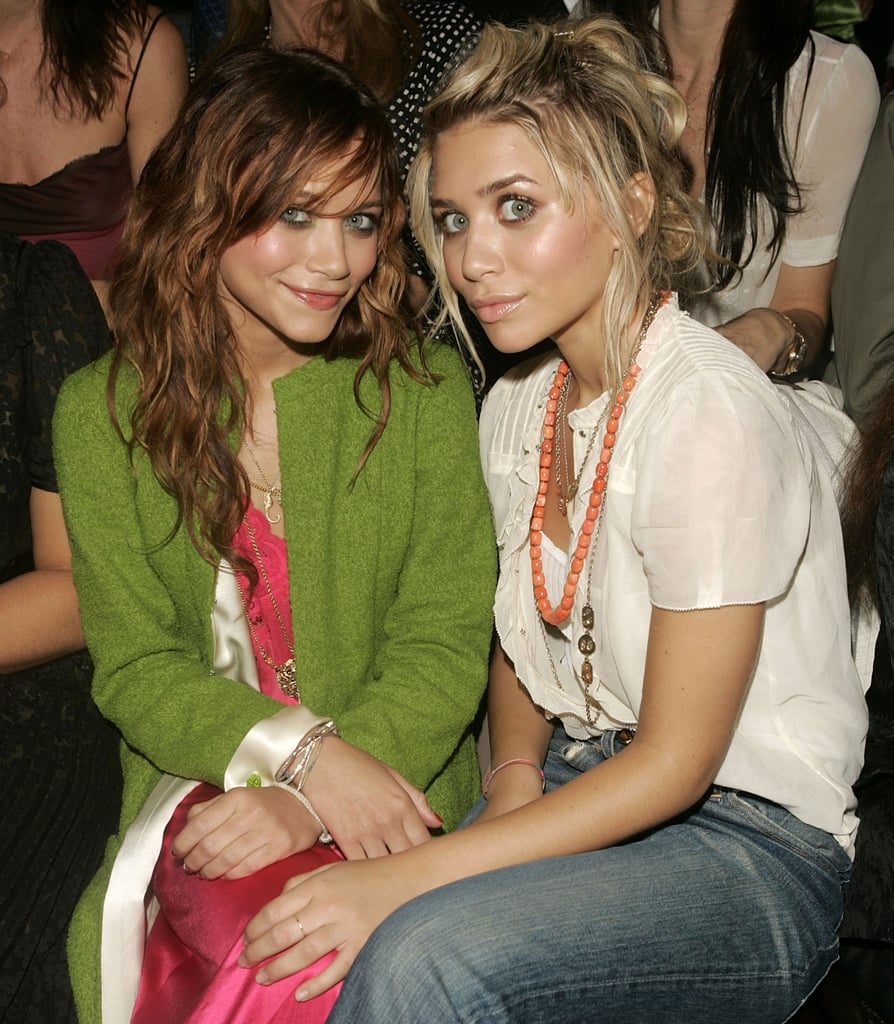 Ashley and Mary-Kate Olsen checked out the Marc Jacobs collection from the front row in September 2003.