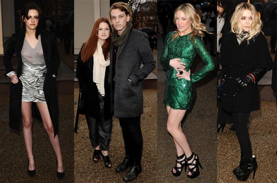 Photos of Kristen Stewart And Mary-Kate Olsen at the Burberry Show During 2010 Fall London Fashion Week