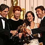 Daniel Day-Lewis, Tilda Swinton, Marion Cotillard, Javier Bardem, 2008