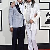 Steven Tyler and Smokey Robinson at the 2014 Grammy Awards.