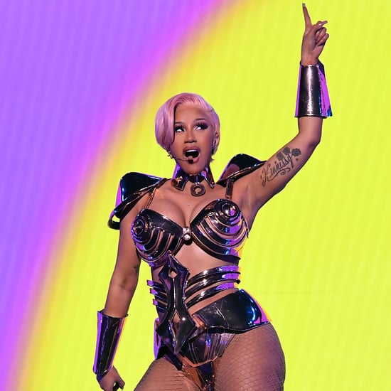 "Cardi B Performs ""WAP"" in Gunmetal Cone Bra and Briefs"